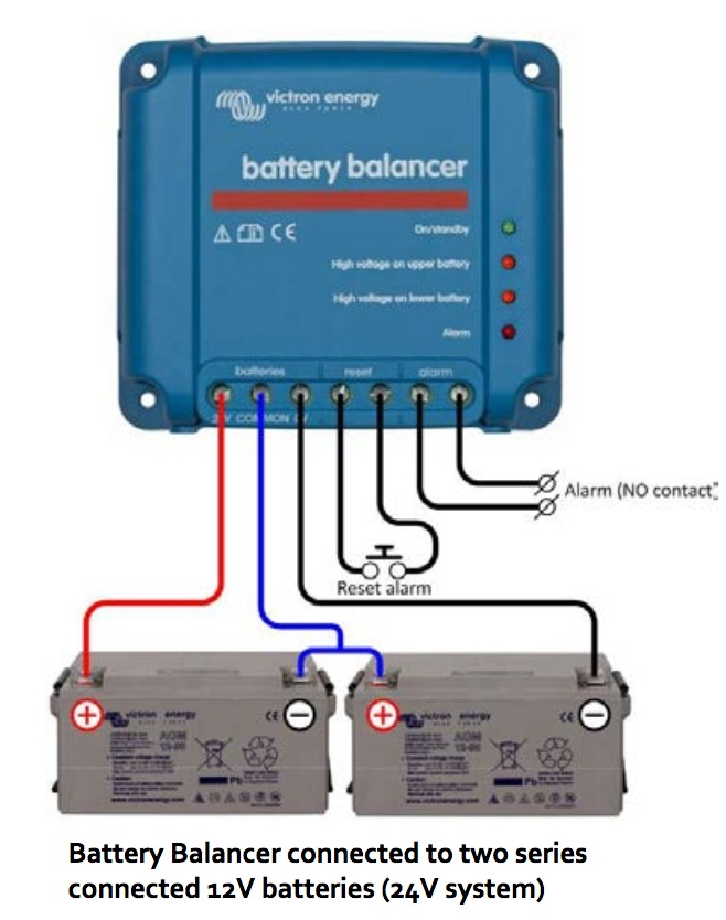 Victron Battery Balancer Connected