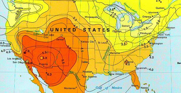 Sizing Your Marine Solar System E Marine Systems - Us solar radiation resource maps