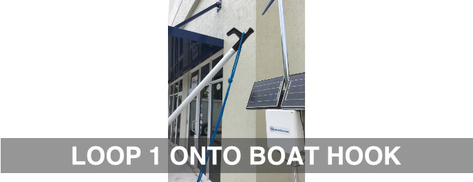 LOOP 1 ONTO BOAT HOOK