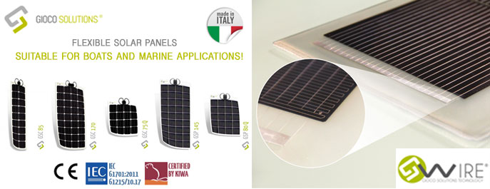 Gioco Solutions Flexible Solar Panels Marine Applications