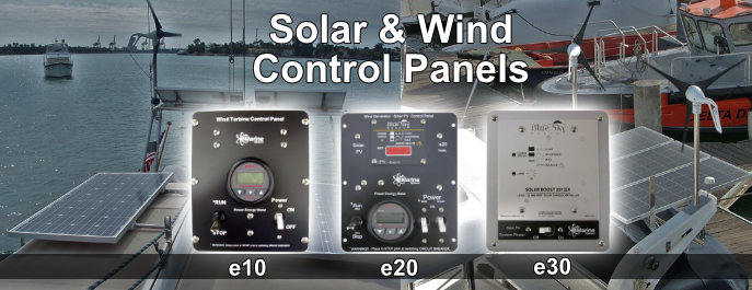 Solar and Wind Solar Control Panels