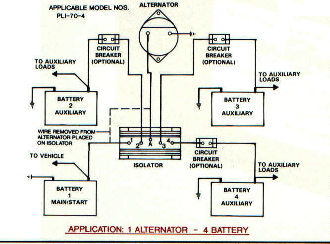 iso1alt4bat battery isolators e marine systems wiring diagram for 2 boat batteries at mifinder.co