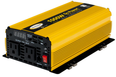 Go Power 1000W 12V - 24V Modified Sine Wave Inverter Go Power 1000W 12V - 24V Modified Sine Wave Inverter, GP-1000