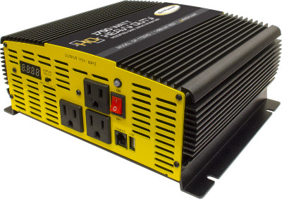 Go Power 1750W 12V - 24V Heavy-Duty Modified Sine Wave Inverter Go Power 1750W 12V - 24V Heavy-Duty Modified Sine Wave Inverter, GP-1750HD