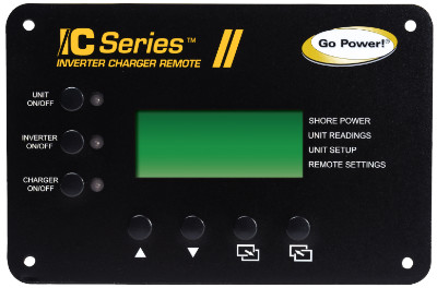 Go Power Inverter Charger Remote GP-ICR-50 Go Power Inverter Charger Remote GP-ICR-50, IC Series Inverter Charger Remote