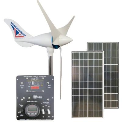 Hybrid Kit Rutland 1200 500w Wind Turbine Dual 145w Solar