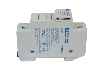 MNTS Fuse Holder MidNite Solar, touch safe, fuse holder, 10x38mm fuse, Din Rail Mount, MNPV combiner