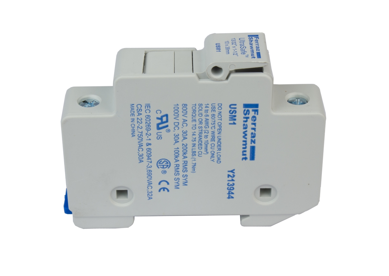 midnite solar touch safe fuse holder mnts for 10x38mm fuses din rail DIN Mount Toggle Switch