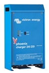 Phoenix 25A/24V/2 Bank + 1Aux Battery Charger Victron, Phoenix, PCH024025001, Battery Charger, 24V, 25A, 2 Bank+1 Auxiliary