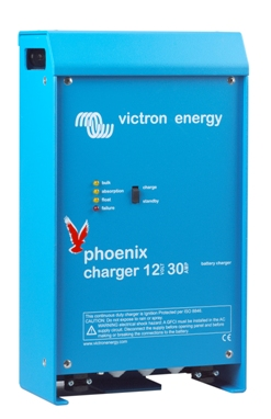 Phoenix 30A/12V/2 Bank + 1Aux Battery Charger  Victron, Phoenix, PCH012030001, Battery Charger, 12V, 30A, 2 Bank+1 Auxiliary