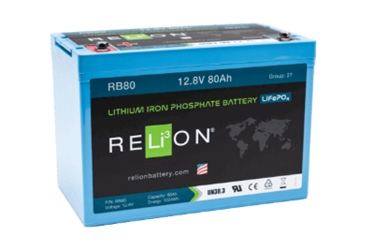 RELiON RB80 12V 80Ah LiFePO4 Battery RELiON RB80 12V 80Ah LiFePO4 Battery, RB80