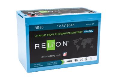 Relion Rb80 12v 80ah Lifepo4 Battery E Marine Systems