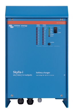 Skylla-i 100A/24V/1 Bank + 1 Aux Battery Charger   Victron, Skylla i, SKI024100000, Battery Charger, 24V, 100A, 1Bank + 1 Auxiliary