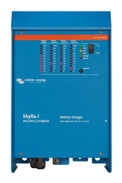 Skylla-i 80A/24V/1 Bank + 1Aux Battery Charger   Victron, Skylla i, SKI024080000, Battery Charger, 24V, 80A, 1Bank + 1 Auxiliary