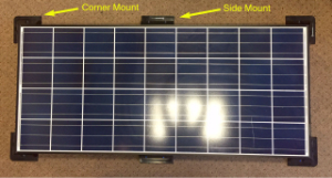 Solar Panel White Abs Side Mount