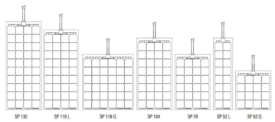 Solbian 52W - 144W SP Series Flexible Solar Panel - e Marine Systems