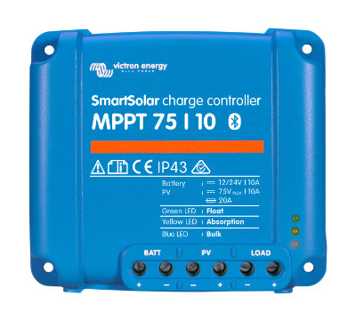 Victron Energy MPPT Charge Controllers 75/10 (12/24V-10A) Victron Energy, BlueSolar, Smart Solar, MPPT, 75/10, SCC010010050R