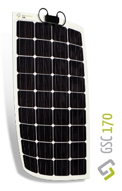 Gioco 170W Flexible Monocrystalline Solar Panel GSC 170 GSC 170, Gioco Solutions, high efficiency, monocrystalline solar panel, flexible solar panel, made in Italy