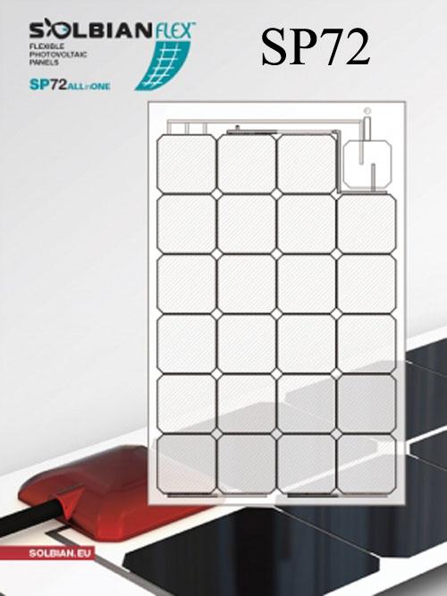 SBSP23ALLinONE Solbian SP 23 ALLinONE Pannello Solare Flessibile 23W con regolat