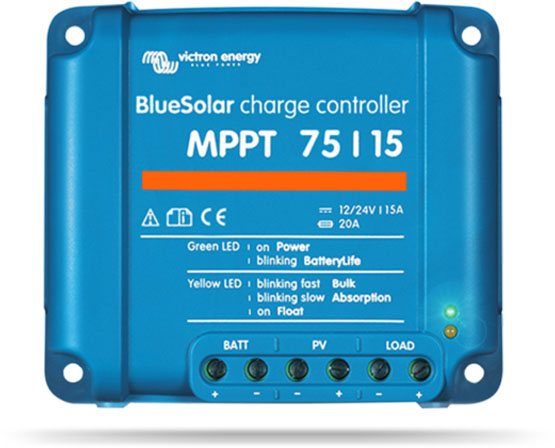 Victron Energy Bluesolar Mppt Solar Charge Controller 75