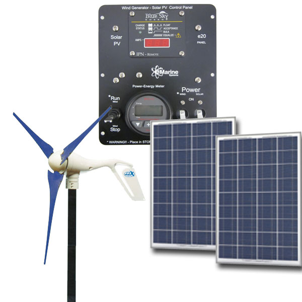 HYBRID Air-X 400W/170W Solar - 12V Hybrid Solar Wind,AIR-X, air x, solar wind kit, green solution