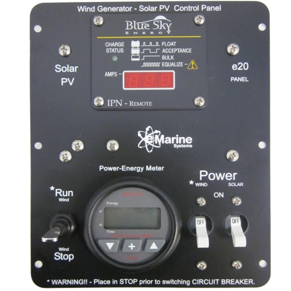 E20 Solar And Wind Control Panel 12 Volt 25 Amp E Marine