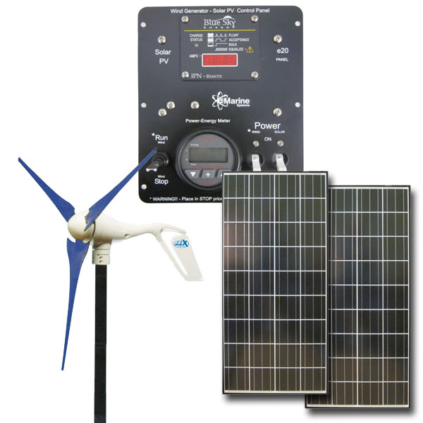 HYBRID AIR-X 400W / 280W Solar - 12V Hybrid Solar Wind, air-x, air x, solar wind kit, green solution