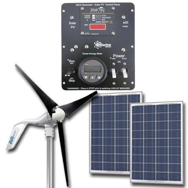 HYBRID AIR Breeze / 170W Solar - 12V Hybrid Solar Wind, Silent Wind, solar wind kit, green solution