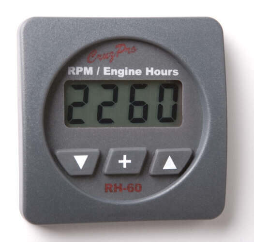 CruzPro RH60 RPM Engine Hours & Elapsed Time Gauge RH60, RH-60R Round, RH-60S Square, CruzPro RH60, RPM Engine Hours & Elapsed Time Gauge
