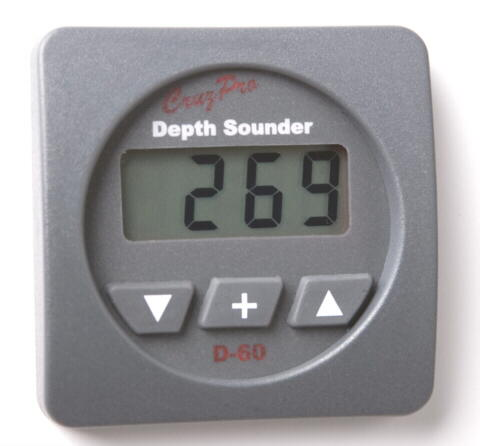 CruzPro D60 Digital Depth Gauge D60 Digital DSP Depth Sounder, D-60, D60R, D60S