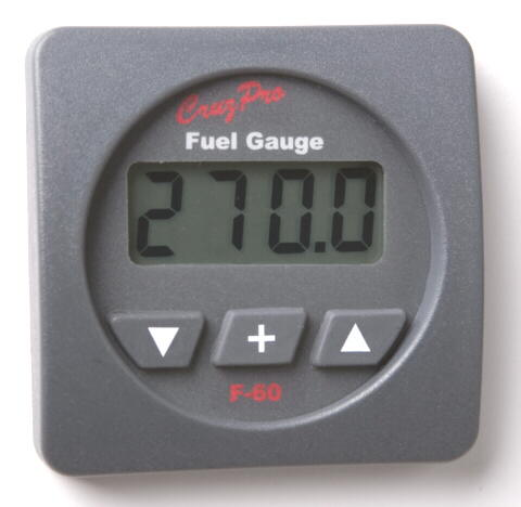 F60 CruzPro Digital Fuel Gauge with Alarm F60 CruzPro, F60 CruzPro Digital Fuel Gauge, F60R, F60S