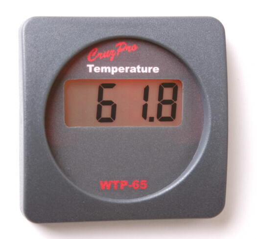 CruzPro WTP65 Digital Sea Water Temperature Gauge WTP65, WTP-65, temperature gauge WTP65, WTP-65R, WTP-65S
