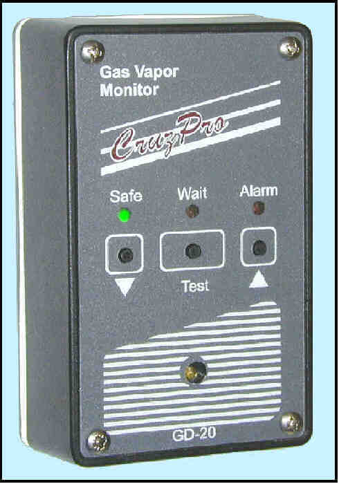 CruzPro GD20B Gas Vapor Monitor GD20B Gas Vapor Monitor, marine gas monitor, marine instrument, GD-20B