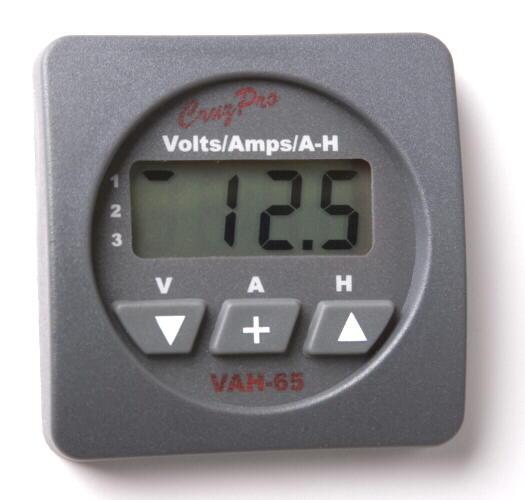 Three Bank Battery Monitoring System : Cruzpro vah digital volts amp r s e marine