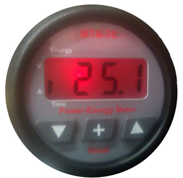 Power Energy Meter w/ 50A Shunt Power Meter, MTS70, MTS-70, Power Energy Meter