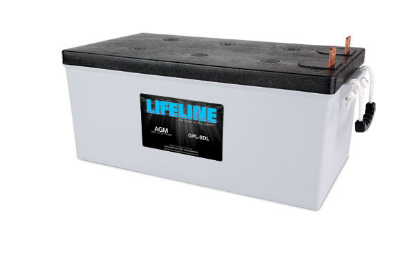 AGM Battery, Lifeline GPL-8DL AGM Deep Cycle Battery 12V 255A-Hr