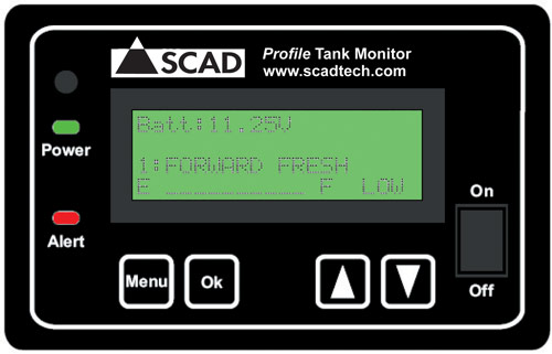 SCAD Profile 1 to 8 Tank Monitor Panel SCAD Profile Tank Monitor, SCAD Profile 1 to 8 Tanks