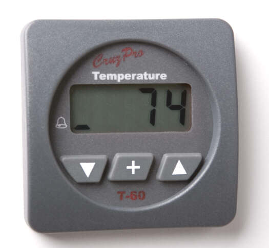 CruzPro T60 Digital Water Temperature Gauge T60, T-60R Round, T-60S Square