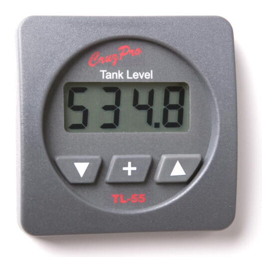 CruzPro TL60 Digital Tank Level Gauge For 3 Tanks TL-60 Digital Tank Level Gauge, TL-60R, TL-60S