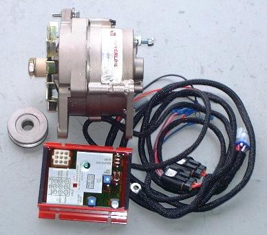 Powerline 120 Amp Dual Foot Alternator Kit Atk22023a